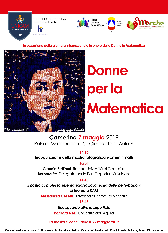 Donne e matematica_UNICAM2019